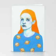 Saturn Girl Stationery Cards