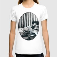 6.66 AM Womens Fitted Tee White SMALL