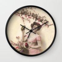 Mademoiselle Skull Wall Clock