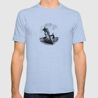 Ghostly Wreck Mens Fitted Tee Athletic Blue SMALL
