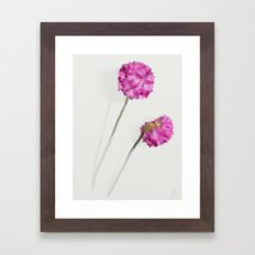 2 Watercolor Flowers Framed Art Print