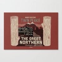 the Great Northern Hotel (Faux Canvas - rust) Canvas Print