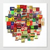 82 Matchbooks Canvas Print