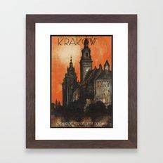 Krakow Poland - Vintage Polish Travel Poster Framed Art Print