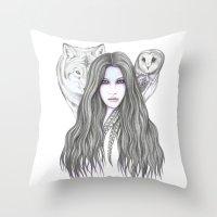 Moonshadow Throw Pillow