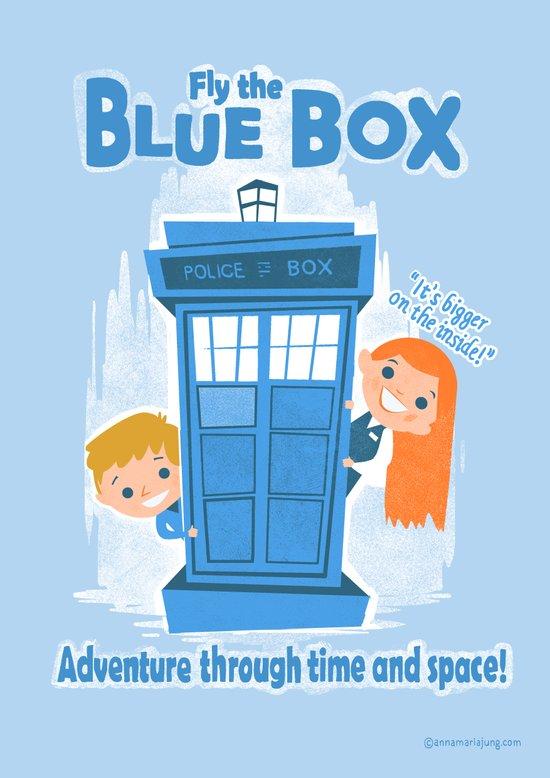 Fly the Blue Box! Art Print