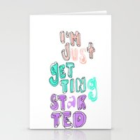 JUST GETTING STARTED Stationery Cards