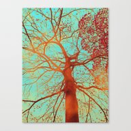 Canvas Print featuring Swinging Tree by Die Farbenfluesterin