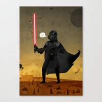 Darth and the Moths Canvas Print