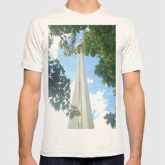 I Spy The CN Tower  Mens Fitted Tee Natural SMALL