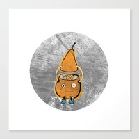 Mr Pear Canvas Print