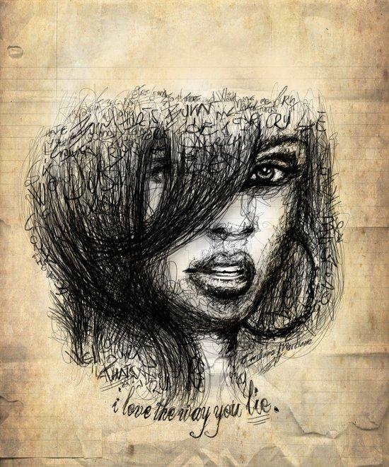 I love the way you lie. Art Print