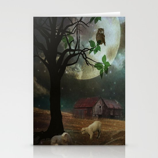 By the Moon Light Stationery Card