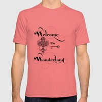 Alice In Wonderland Welc… Mens Fitted Tee Pomegranate SMALL