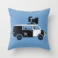 The Blues Brothers' Van Throw Pillow