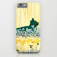 iPhone & iPod Case featuring Clover Cat by Priscilla Moore