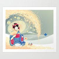 Turning Japanese Art Print