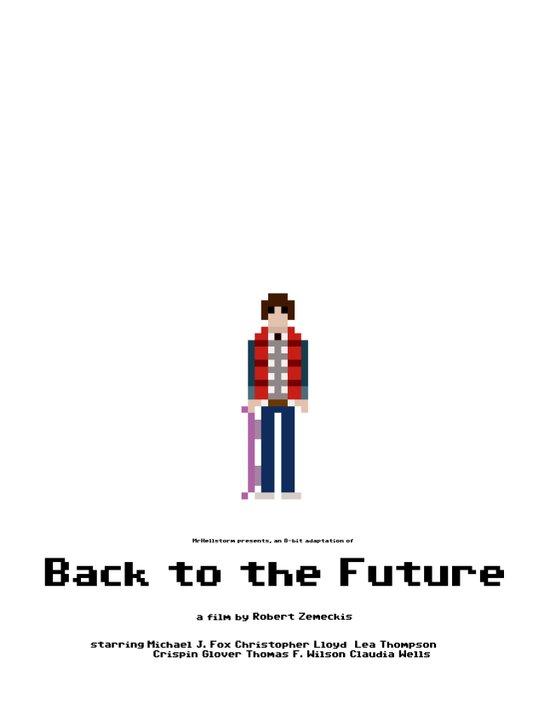 8-bit Back to The Future Art Print