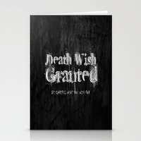 Death Wish Granted. Stationery Cards
