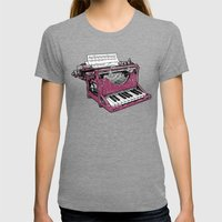 The Composition - P. Womens Fitted Tee Tri-Grey SMALL