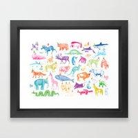 Party Animals Framed Art Print