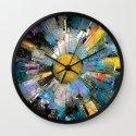 City In The Sun Wall Clock