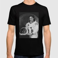 Frida In Space Mens Fitted Tee Black SMALL