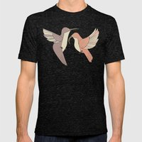 Dancing Hummingbirds Mens Fitted Tee Tri-Black SMALL