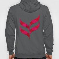 Red Leaf Herringbone Hoody