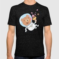 Space Bear Mens Fitted Tee Tri-Black SMALL