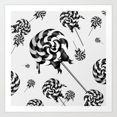 Goth Lollies Art Print