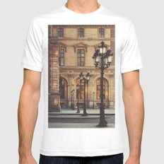 Paris lights Mens Fitted Tee SMALL White