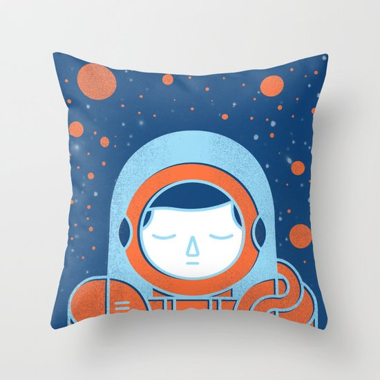 Orange Space Throw Pillow