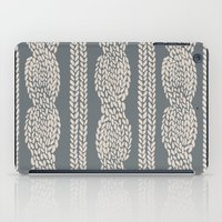 Cable Knit Grey iPad Case