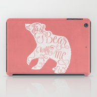 BEAR WITH ME - PINK iPad Case