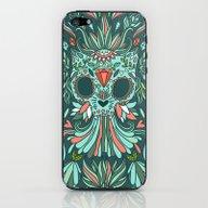 Calavera Cat iPhone & iPod Skin