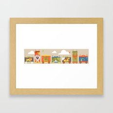 Beast Train Framed Art Print