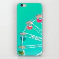 Minty Ferris Wheel Of Ha… iPhone & iPod Skin