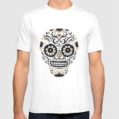Sugar Skull SF - white White Mens Fitted Tee SMALL