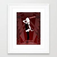 Red Steam Cabaretto Framed Art Print