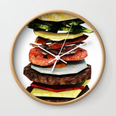 Graphic Burger Wall Clock