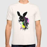 Bunny Gone Mens Fitted Tee Natural SMALL