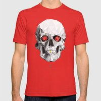 Geometric Eye Candy Mens Fitted Tee Red SMALL