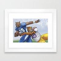 Wildcats versus Tigers Framed Art Print