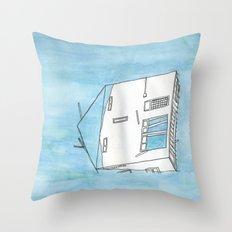 Tsunami House Throw Pillow