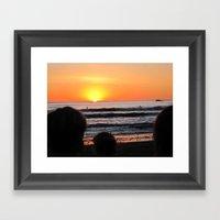 Surfer Framed Art Print