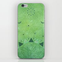 Emerald Daisy Mandala iPhone & iPod Skin