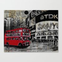 a day in piccadilly Canvas Print