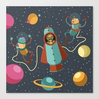 Space Scavengers Canvas Print