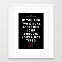Words of Wisdumb #2 Framed Art Print